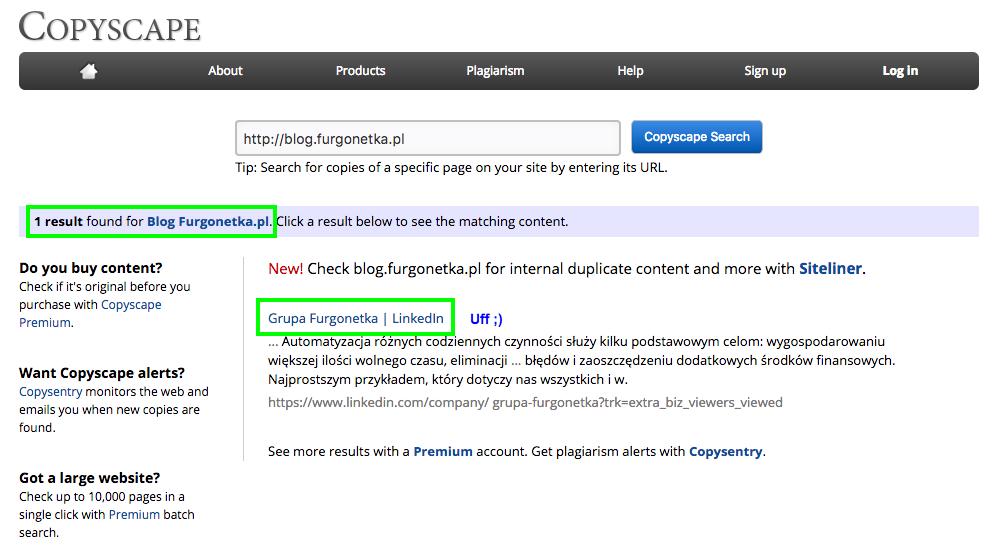 Copyscape, darmowe narzędzie, które dba o unikalne opisy produktów