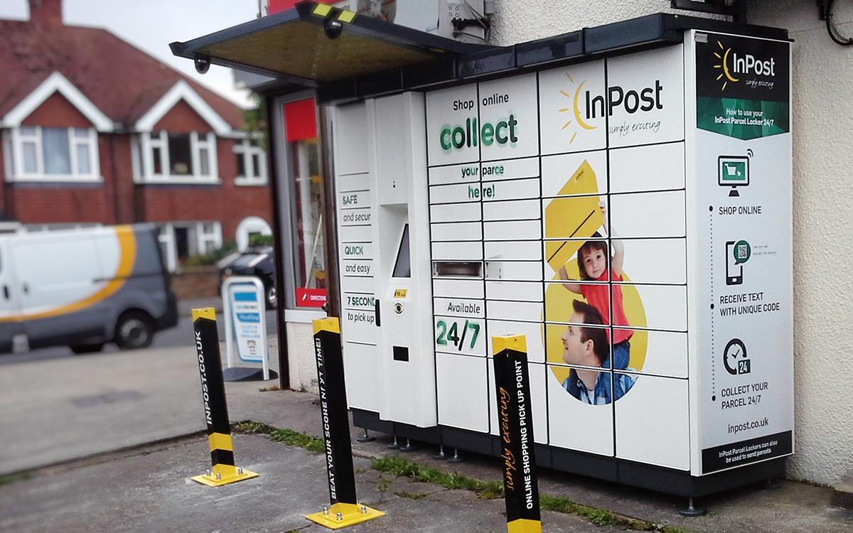 Paczkomaty InPost w Wielkiej Brytanii.
