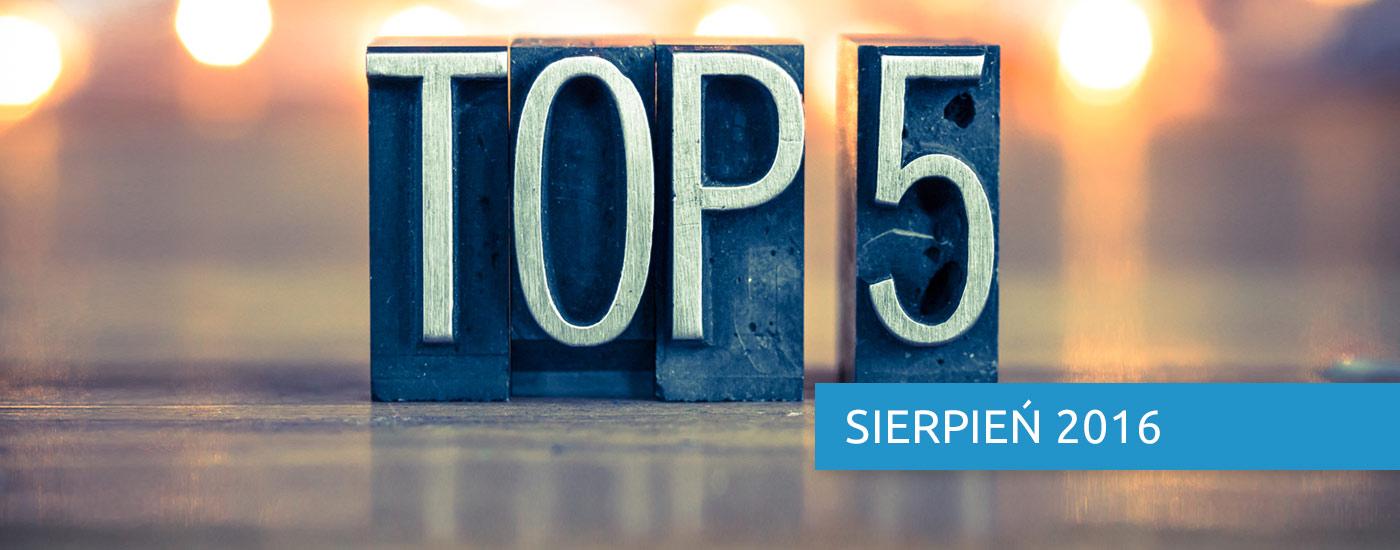 E-commerce Express, czyli top 5 faktów miesiąca. Sierpień 2016