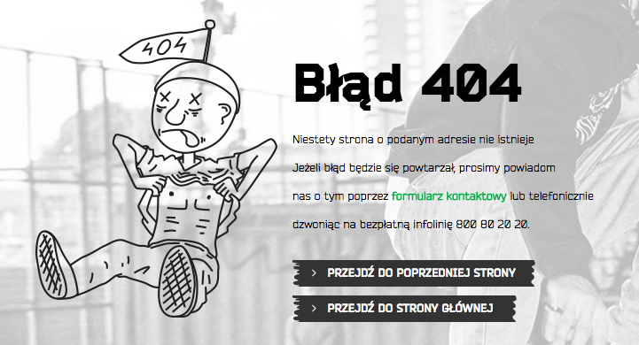Kreatywna strona 404 - Cropp