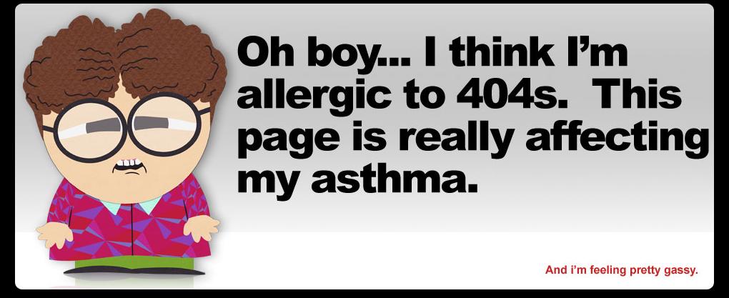 Kreatywna strona błędu 404 - SouthPark