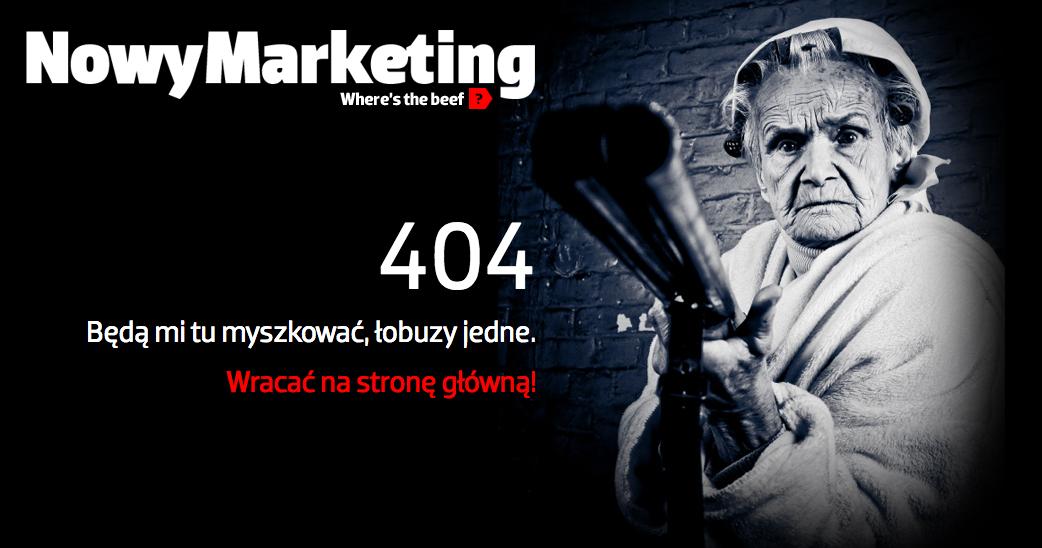 Kreatywna strona błędu 404 - Nowymarketing.pl