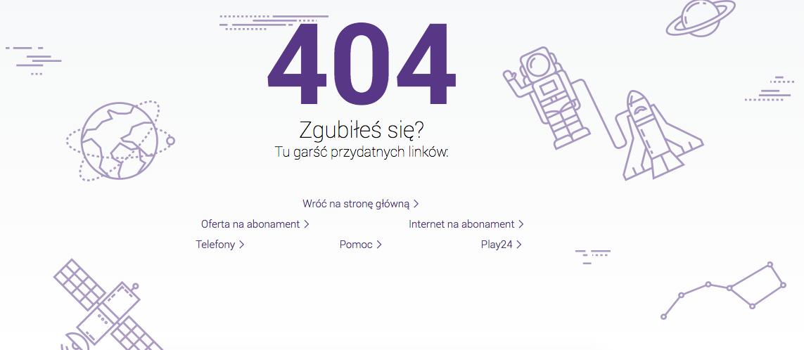 Kreatywna strona błędu 404 - Play