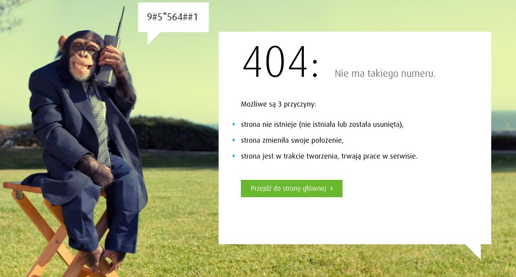 Kreatywna strona błędu 404 - Plus