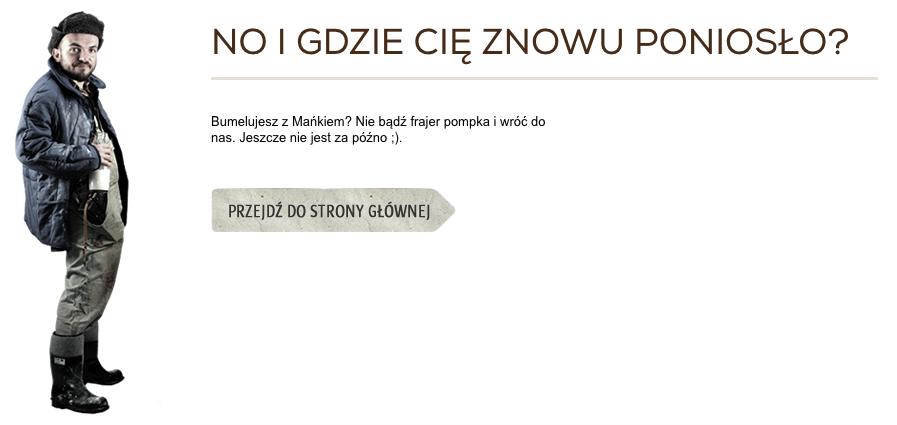 Kreatywna strona błędu 404 - Spodlady.com