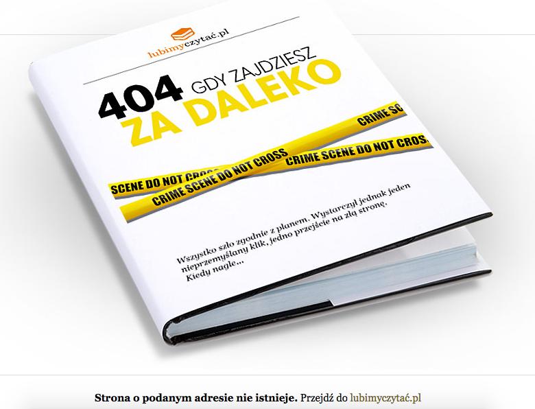 Kreatywna strona błędu 404 - Lubimyczytac.pl
