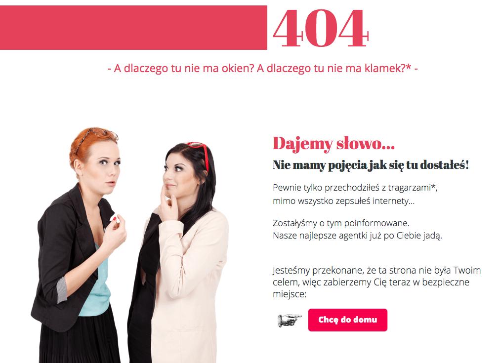 Kreatywna strona błędu 404 - Dajemyslowo.pl