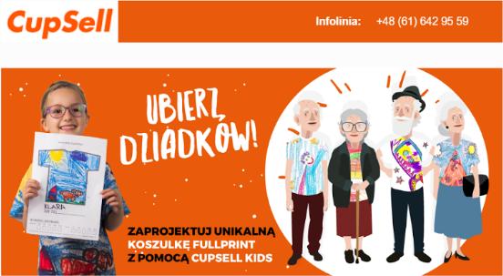 Personalizacja produktu z okazji dnia babci i dziadka.