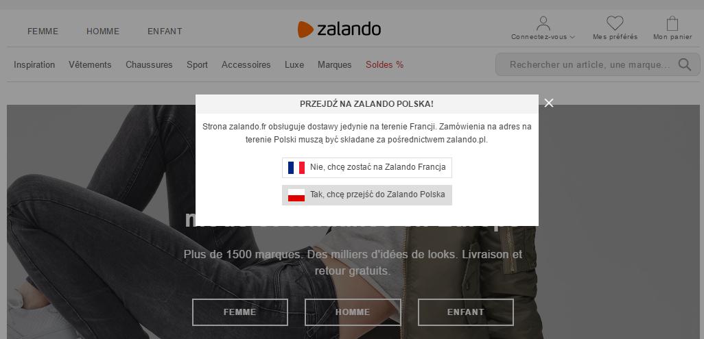 Sklep internetowy w wielu wersjach językowych.