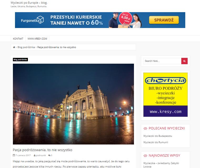 """Jak wykorzystać materiały reklamowe z programu partnerskiego """"Zarabiaj z Furgonetka.pl"""" na blogu?"""