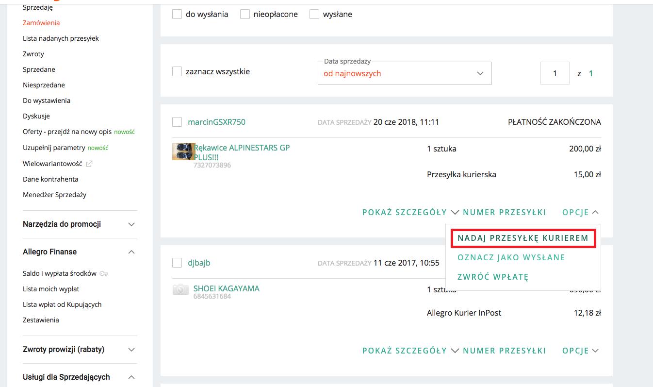 Jak zamówić kuriera z oferty Furgonetka.pl na Allegro?