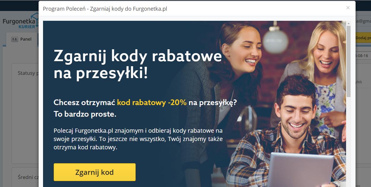 Jak zdobyć kod rabatowy na Furgonetka.pl?