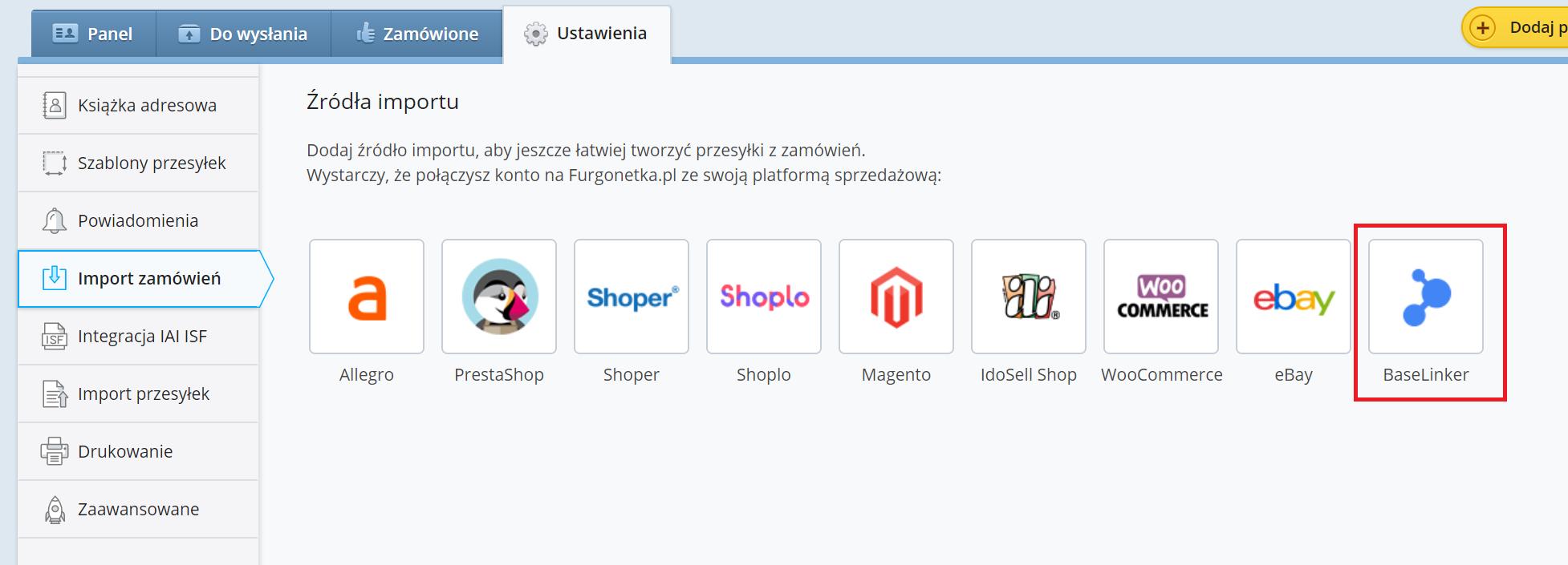 Jak zintegrować BaseLinker z Furgonetka.pl?