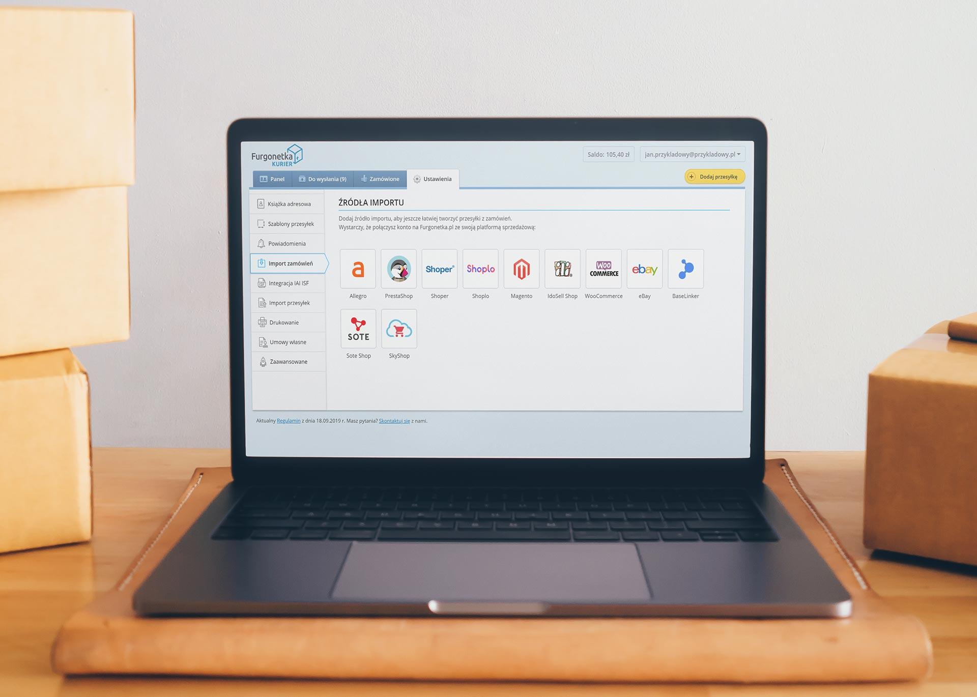 Dodaliśmy platformę SkyShop do źródeł sprzedaży na Furgonetka.pl
