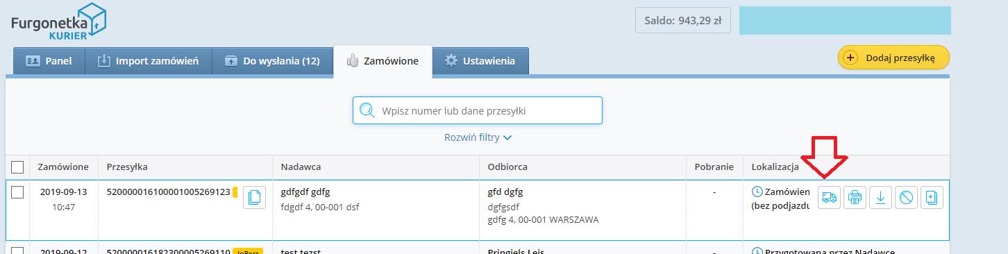 Jak zamówić podjazd kuriera na Furgonetka.pl?